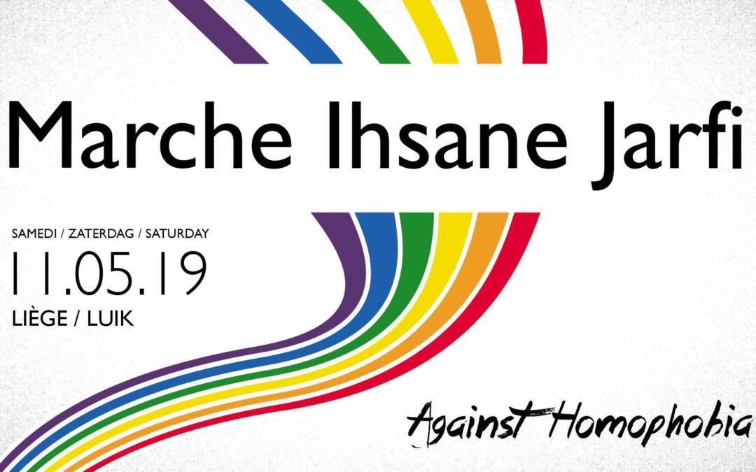 Marche Ihsane Jarfi et inauguration du Refuge de Liège